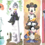 Counted Cross Stitch pattern disney haunted mansion 276 * 173 stitches CH1121