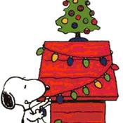 CRAFTS Snoopy Christmas Cross Stitch Pattern***LOOK***