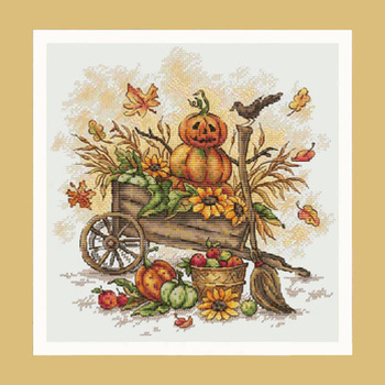 Fall Pumpkins Cross Stitch Pattern***LOOK***