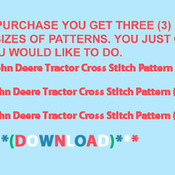 CRAFTS John Deere Tractor Cross Stitch Pattern***LOOK***
