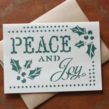 Peace and Joy Christmas Card