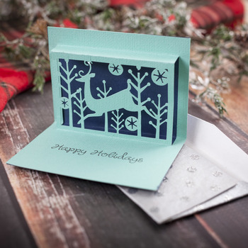 Pop-Up Happy Holidays Christmas Card