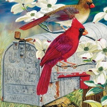 CRAFTS Red Bird Express Cross Stitch Pattern***L@@K***Buyers Can Download Your Pattern As Soon As They Complete The Purchase