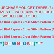 CRAFTS Red Bird Express Cross Stitch Pattern***L@@K***