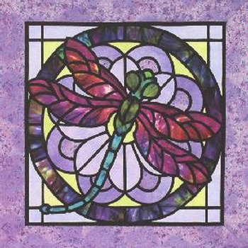 CRAFTS Stain Glass Dragonfly Cross Stitch Pattern***L@@K***