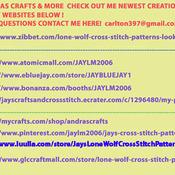 CRAFTS Twilight Song Wolf Cross Stitch Pattern***LOOK***