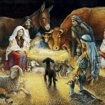 Unique Hand Made pdf Sewing Dmc Crafts Away In A Manger Cross Stitch Pattern***LOOK***X***INSTANT DOWNLOAD***