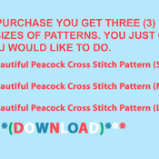 Beautiful Peacock Cross-Stitch Pattern***LOOK***X***INSTANT DOWNLOAD***