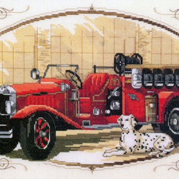 CRAFTS Classic Fire Engine Cross Stitch Pattern***LOOK***