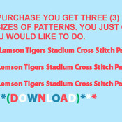 CRAFTS CLemson Tigers Stadium Cross Stitch Pattern***LOOK***Buyers Can Download Your Pattern As Soon As They Complete The Purchase