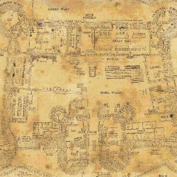 Counted Cross Stitch Pattern hogwart school floor map 496 x 372 stitches CH1784