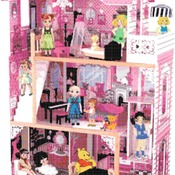 counted Cross stitch pattern dolls' house pdf embroidery 240*340 stitches CH820