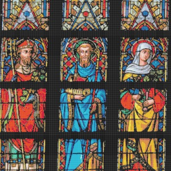 counted stitch pattern Saint Bavo church stained 276 * 322 stitches CH2051A