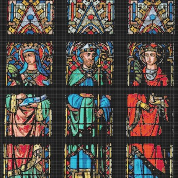 counted stitch pattern Saint Bavo church stained 281 * 322 stitches CH2051B