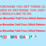 Cowboy Mountian Trail Cross Stitch Pattern***LOOK***X***INSTANT DOWNLOAD***