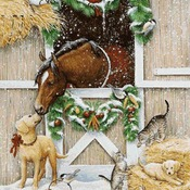 CRAFTS Holiday Cheer Cross Stitch Pattern***LOOK***