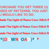 ( CRAFTS ) The Light of Peace Cross Stitch Pattern***L@@K***Buyers Can Download Your Pattern As Soon As They Complete The Purchase