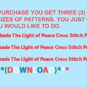 CRAFTS Kinkade The Light of Peace Cross Stitch Pattern***L@@K***