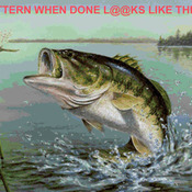 ( CRAFTS ) Large Mouth Bass Cross titch Pattern***L@@K***Buyers Can Download Your Pattern As Soon As They Complete The Purchase