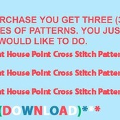 CRAFTS Light House Point Cross Stitch Pattern***LOOK***Buyers Can Download Your Pattern As Soon As They Complete The Purchase