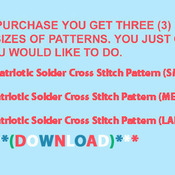 CRAFTS Patriotic Solder Cross Stitch Pattern***LOOK***Buyers Can Download Your Pattern As Soon As They Complete The Purchase
