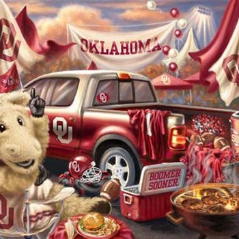 CRAFTS Oklahoma Sooners Tailgate Cross Stitch Pattern***LOOK***