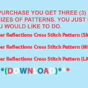 Deer Reflections Cross Stitch Pattern***LOOK***