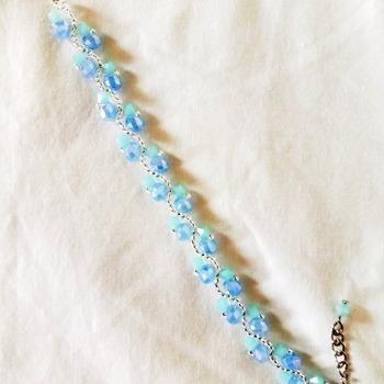Handmade Ocean Blue Wave Bracelet Jewellery