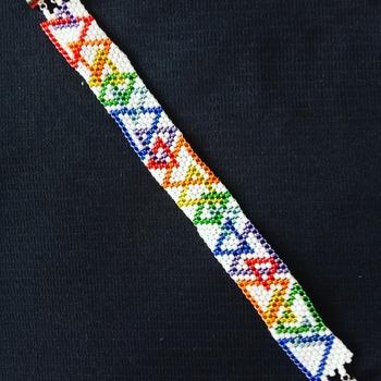 Handmade Triangle Rainbow Multi Colour Bracelet Jewellery