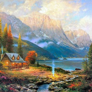 Kinkade Beginning of a Perfect Day  Cross Stitch Pattern***LOOK***X***(DOWNLOAD)***