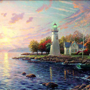 CRAFTS Kinkade Serenity Cove Cross Stitch Pattern***L@@K*** PREVIEW A SAMPLE OF MY PATTERNS DETAILS BELOW