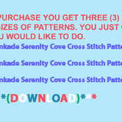 CRAFTS Kinkade Serenity Cove Cross Stitch Pattern***L@@K***Buyers Can Download Your Pattern As Soon As They Complete The Purchase