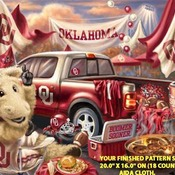 Oklahoma Sooners Tailgate Cross Stitch Pattern***LOOK***X***INSTANT (DOWNLOAD)***
