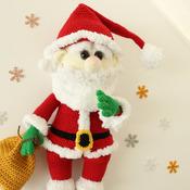 Santa Claus / Christmas / Crochet Santa/ Amigurumi toy / PATTERN