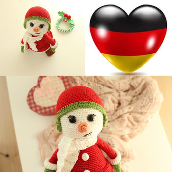 Schneemann Amigurumi-  Deutsch -German Language