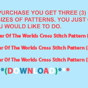CRAFTS War Of The Worlds Cross Stitch Pattern***LOOK*** PREVIEW A SAMPLE OF MY PATTERNS DETAILS BELOW