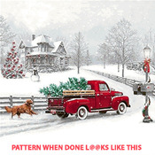 Winter Ride Cross Stitch Pattern***LOOK***X***INSTANT DOWNLOAD***