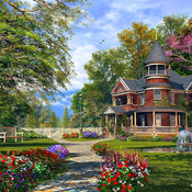 CRAFTS Beautiful Mountian Home Cross Stitch Pattern***L@@K***