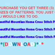 ( CRAFTS ) Beautiful Mountian Home Cross Stitch Pattern***L@@K***Buyers Can Download Your Pattern As Soon As They Complete The Purchase