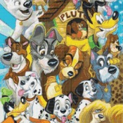 counted cross stitch pattern all disney dogs needlepoint 190*236 stitches CH1610