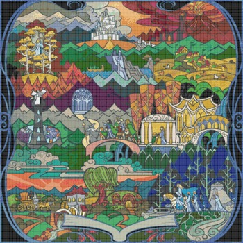 counted cross stitch pattern Lord of the rings LOTR WOW 420*420 stitches CH1182