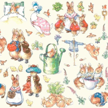 counted cross stitch pattern characters of world of potter 375*274 stitches CH1379
