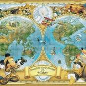 counted cross stitch pattern Disney map world needlepoint 441*315 stitches CH794