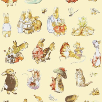 counted cross stitch pattern The world of potter 273*395 stitches CH1759