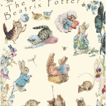 counted cross stitch pattern The world of potter 218*356 stitches CH1374