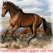 CRAFTS American Quarter Horse Cross Stitch Pattern***L@@K***