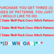 CRAFTS NC State Wolf-Pack # 2 Cross Stitch Pattern***LOOK***Buyers Can Download Your Pattern As Soon As They Complete The Purchase