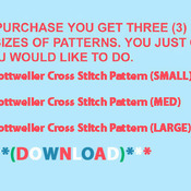 CRAFTS Rottweiler Dog Cross Stitch Pattern***L@@K***Buyers Can Download Your Pattern As Soon As They Complete The Purchase