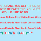 CRAFTS T K River Cabin Cross Stitch Pattern***L@@K***Buyers Can Download Your Pattern As Soon As They Complete The Purchase