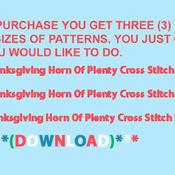 CRAFTS Thanksgiving Horn Of PLenty Cross Stitch Pattern***LOOK***